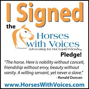 horses with voices pledge certificate